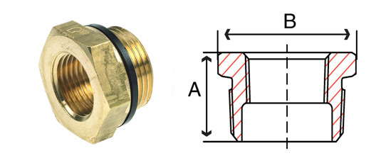 Bronze Bushes Fittings Hex Bushing