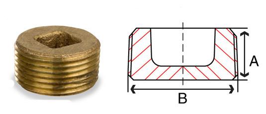 Bronze Counter Sunk Square Plug