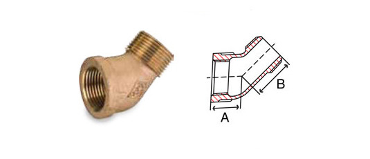 Bronze Fittings 45 Degree Street Elbow