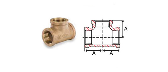 Bronze Tees Fittings Tee
